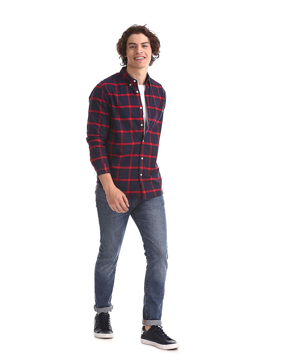 Aeropostale Men Casual Wear Checkered Shirt
