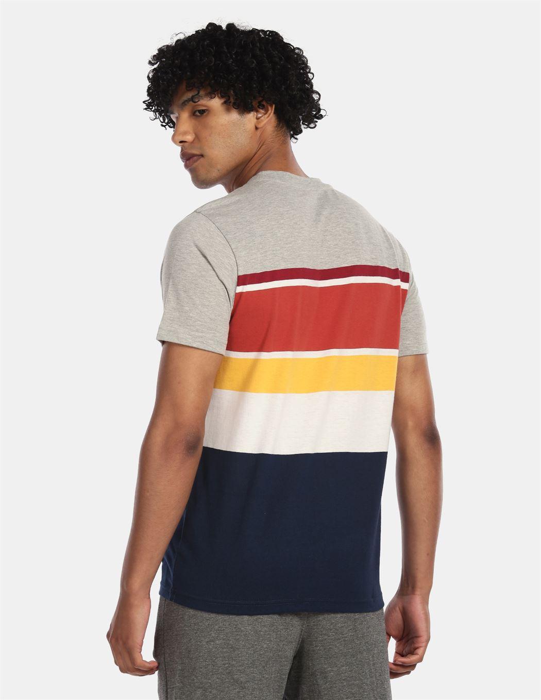 Aeroppostale Men Casual Wear Multicolor T-Shirt