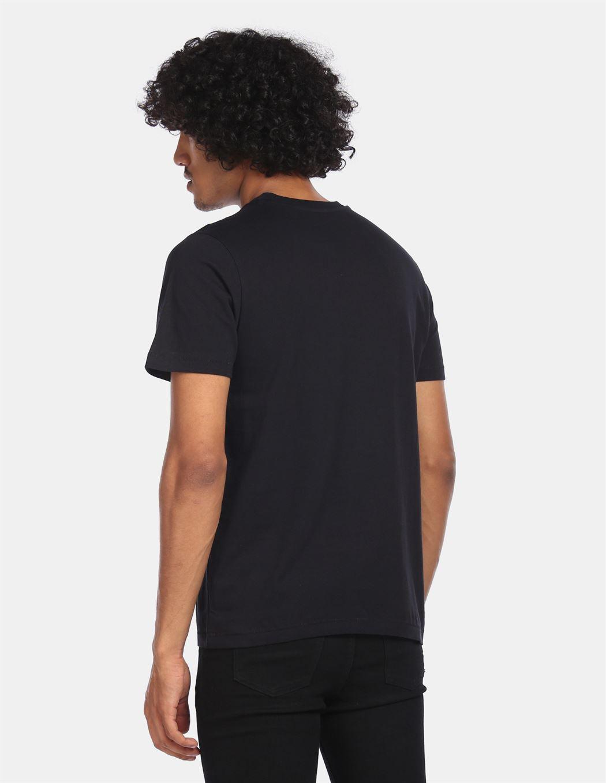 Aeroppostale Men Casual Wear Black T-Shirt