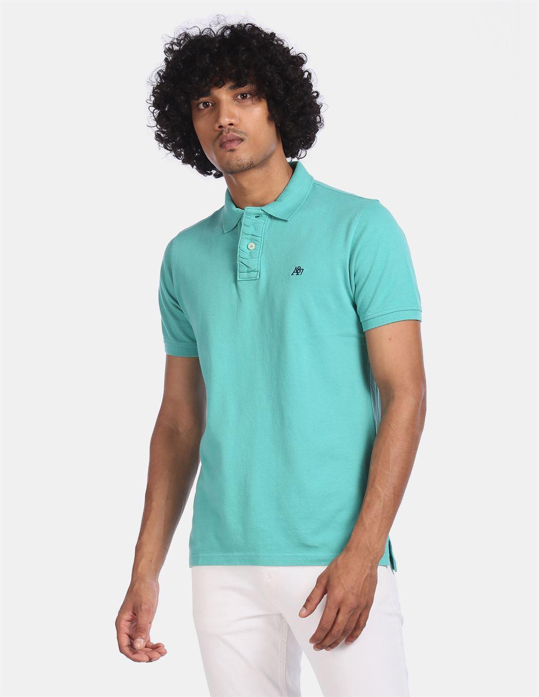 Aeroppostale Men Casual Wear Blue T-Shirt