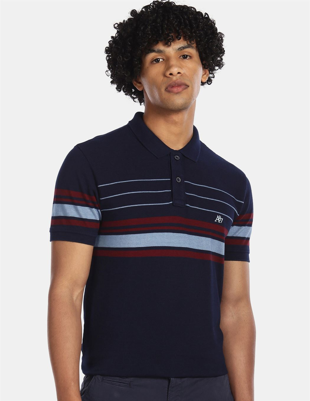 Aeroppostale Men Casual Wear Navy Blue T-Shirt