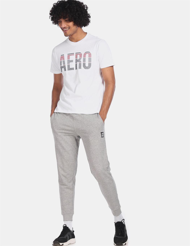 Aeroppostale Men Casual Wear White T-Shirt