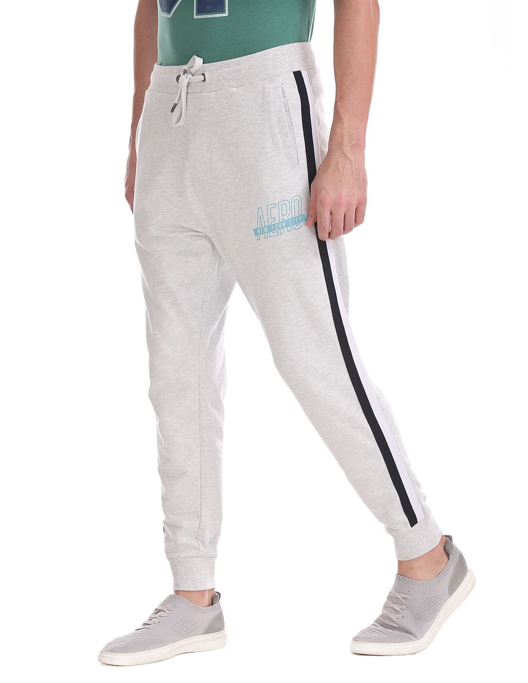 Aeropostale Men Casual Wear Solid Track Pant