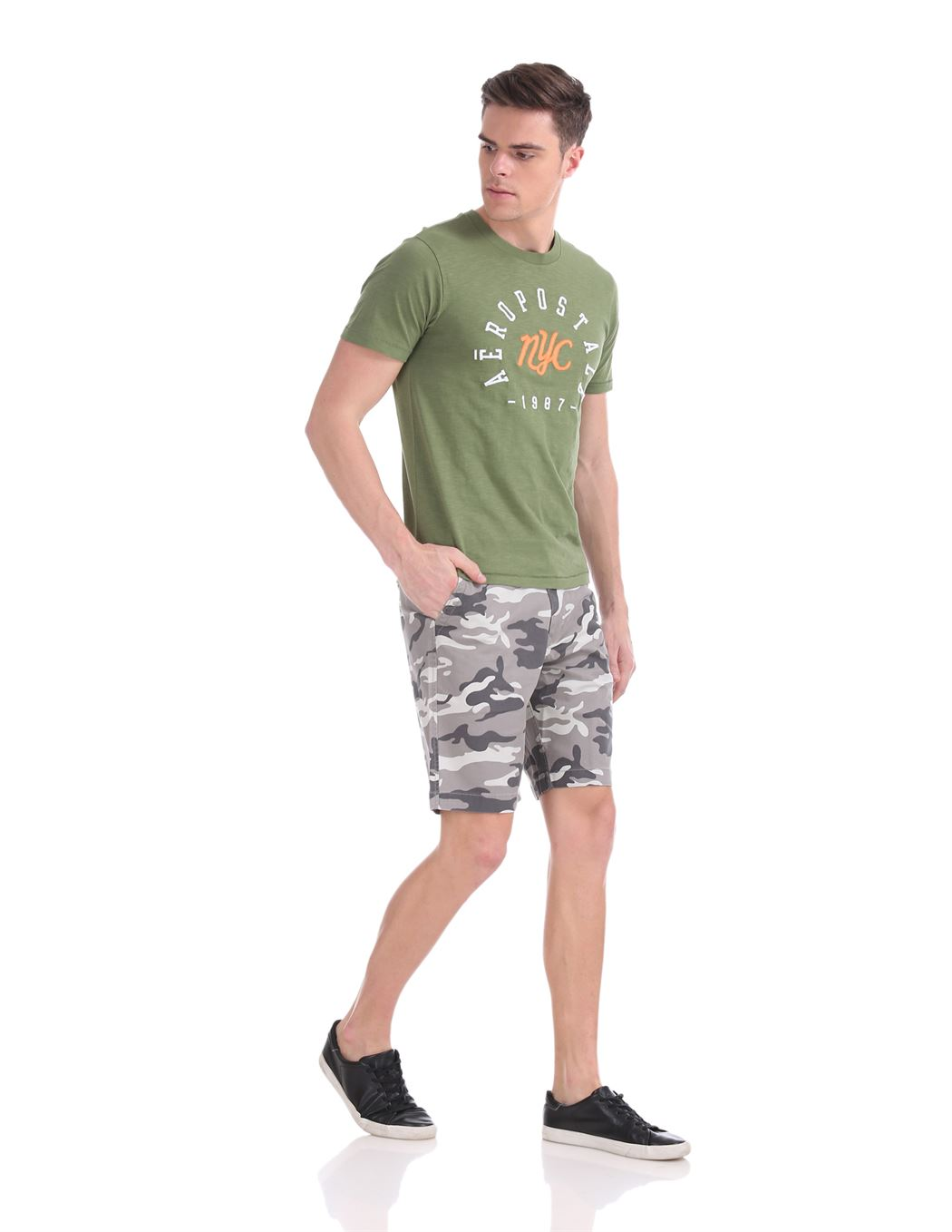 Aeropostale Men Casual Wear Printed Shorts