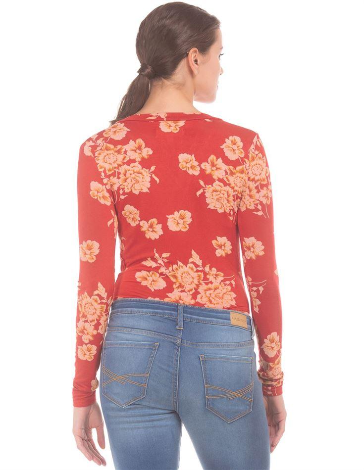 Aeropostale Women Casual Wear Floral Print Top