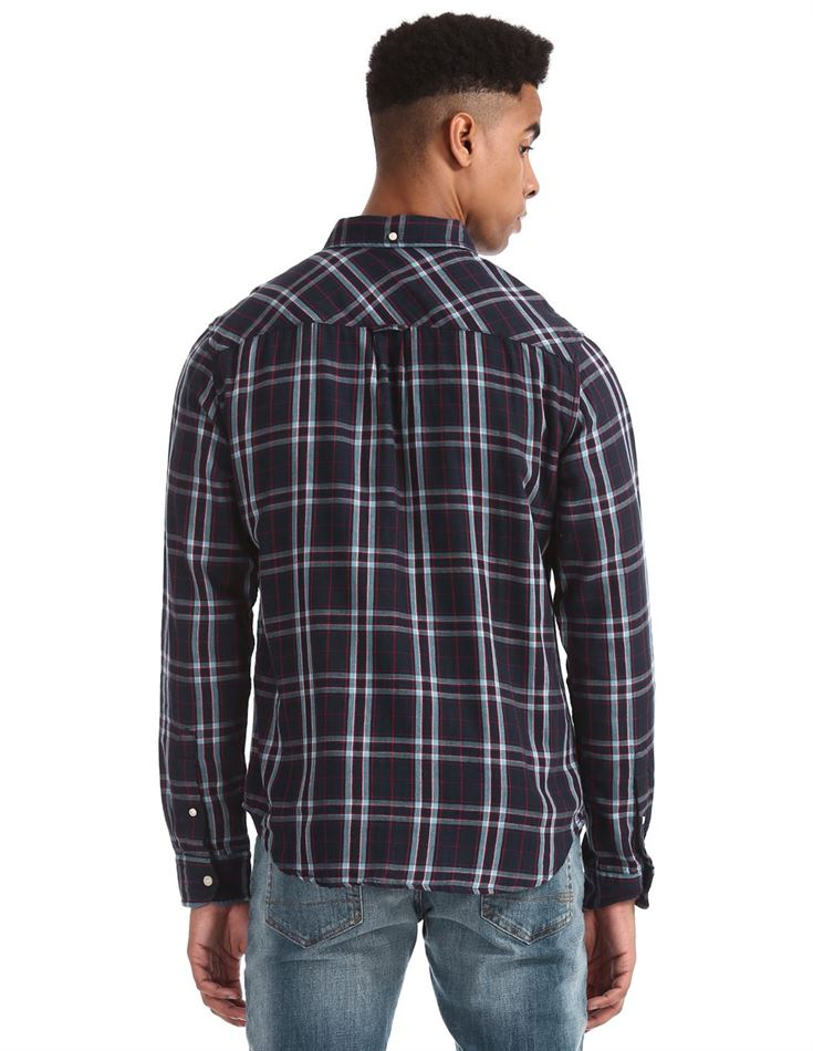 Aeropostale Men Casual Wear Checkered Shirt