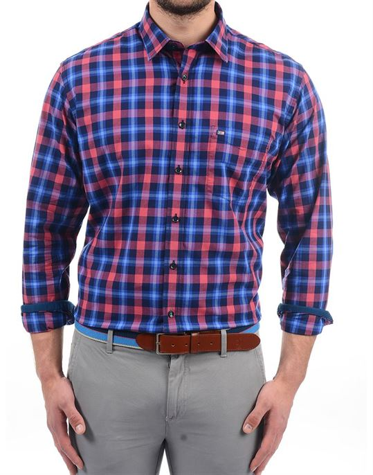 Arrow Sports Men Checkered Casual Wear Shirt