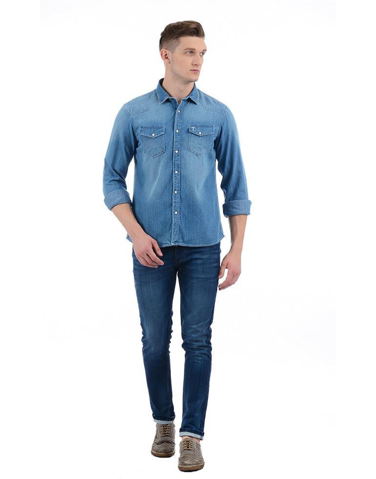 Arrow Jeans Men Solid Casual Wear Shirt