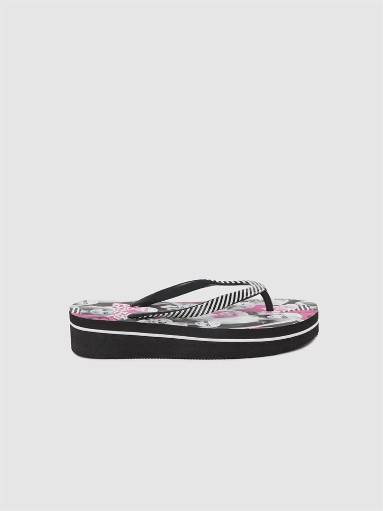 Barbie Girls Black Casual Wear Filp-Flops