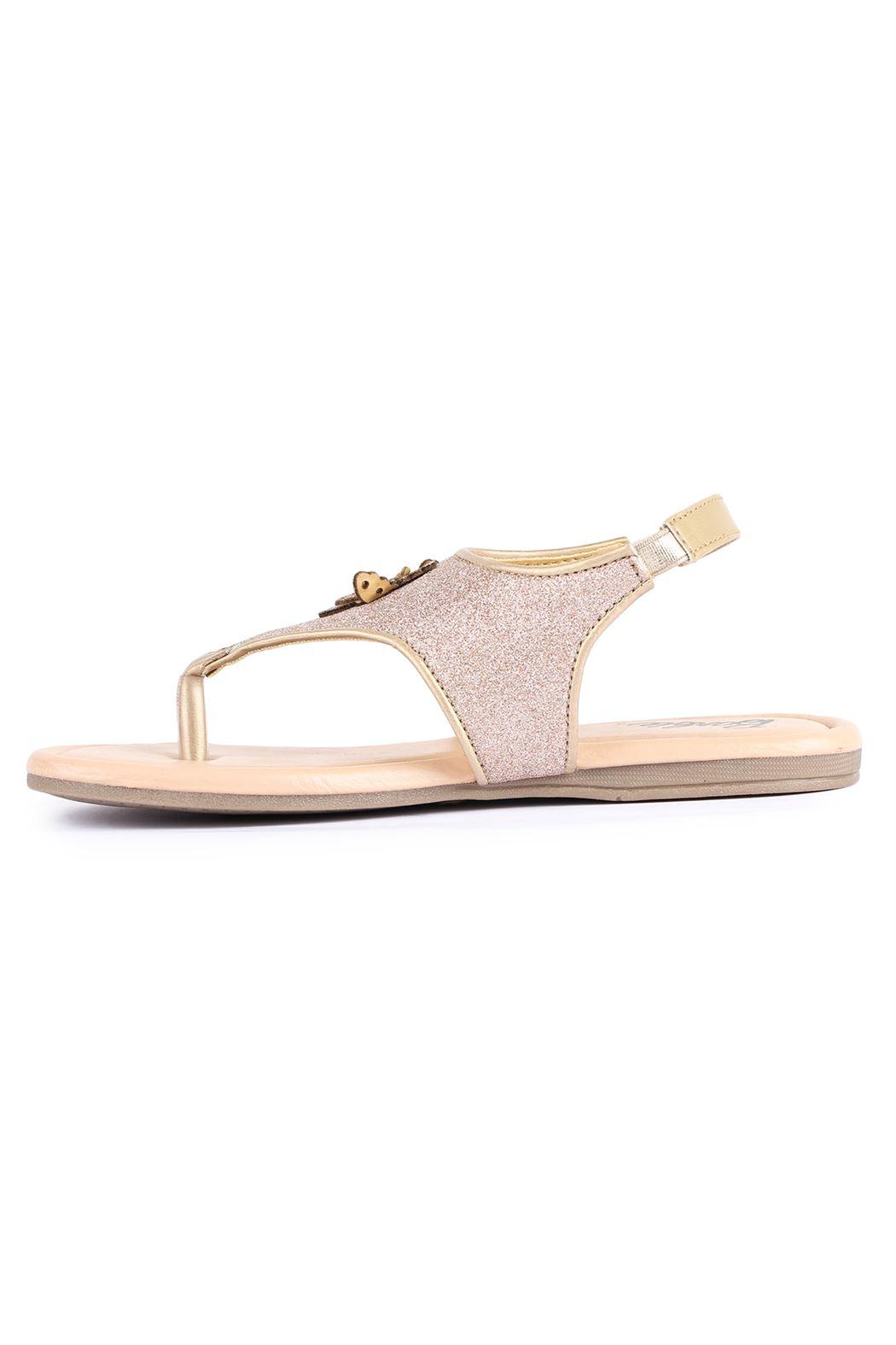 Barbie Girls Gold Casual Wear Sandals