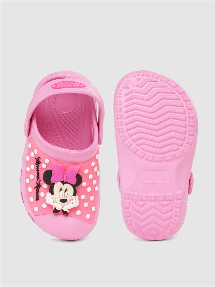 Minnie Girls Pink Casual Wear Clogs