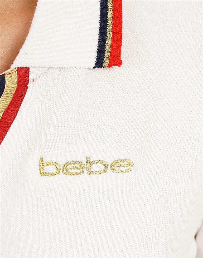 Bebe Women Casual Wear Solid T-Shirt