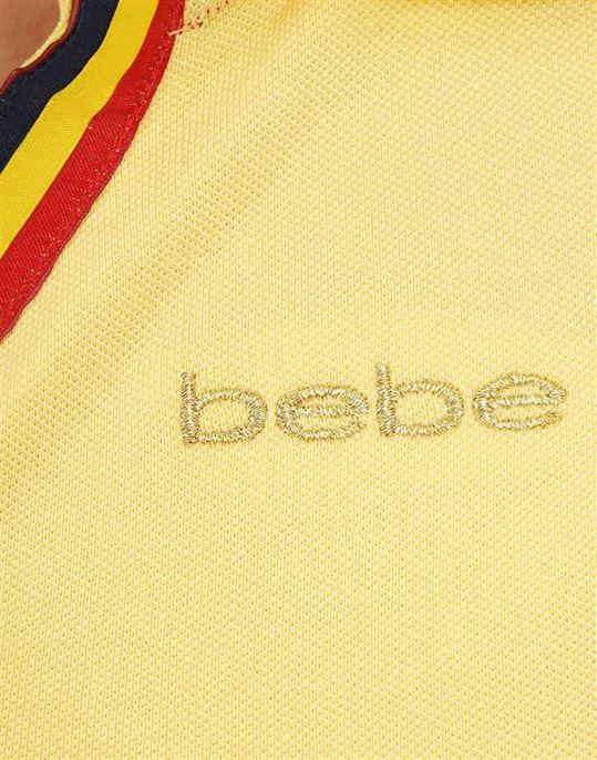 Bebe Women Casual Wear Solid Polo