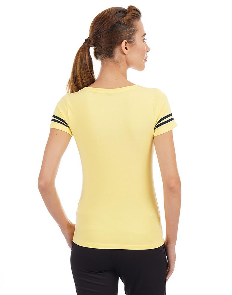 Bebe Women Casual Wear Printed T-Shirt