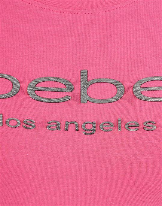Bebe Women Casual Wear Chest print T-Shirt