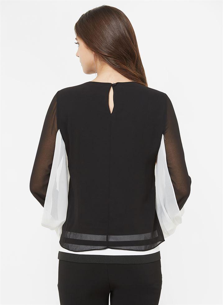 Bebe Women Casual Wear Black Top