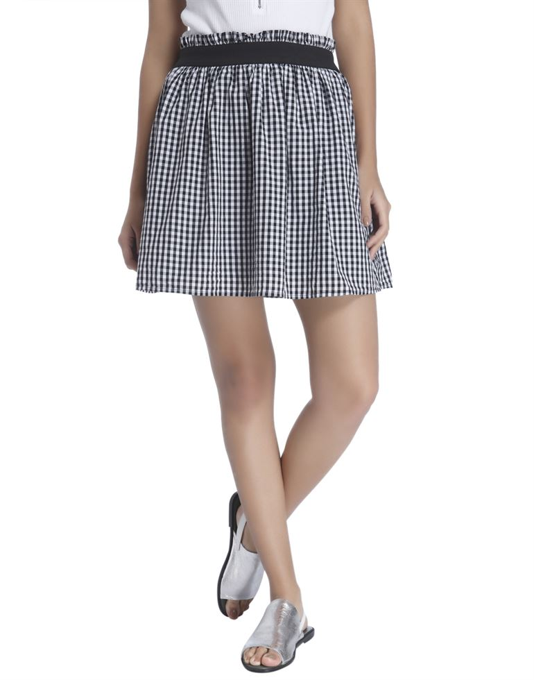 Vero Moda Women Casual Wear Checkered Skirt