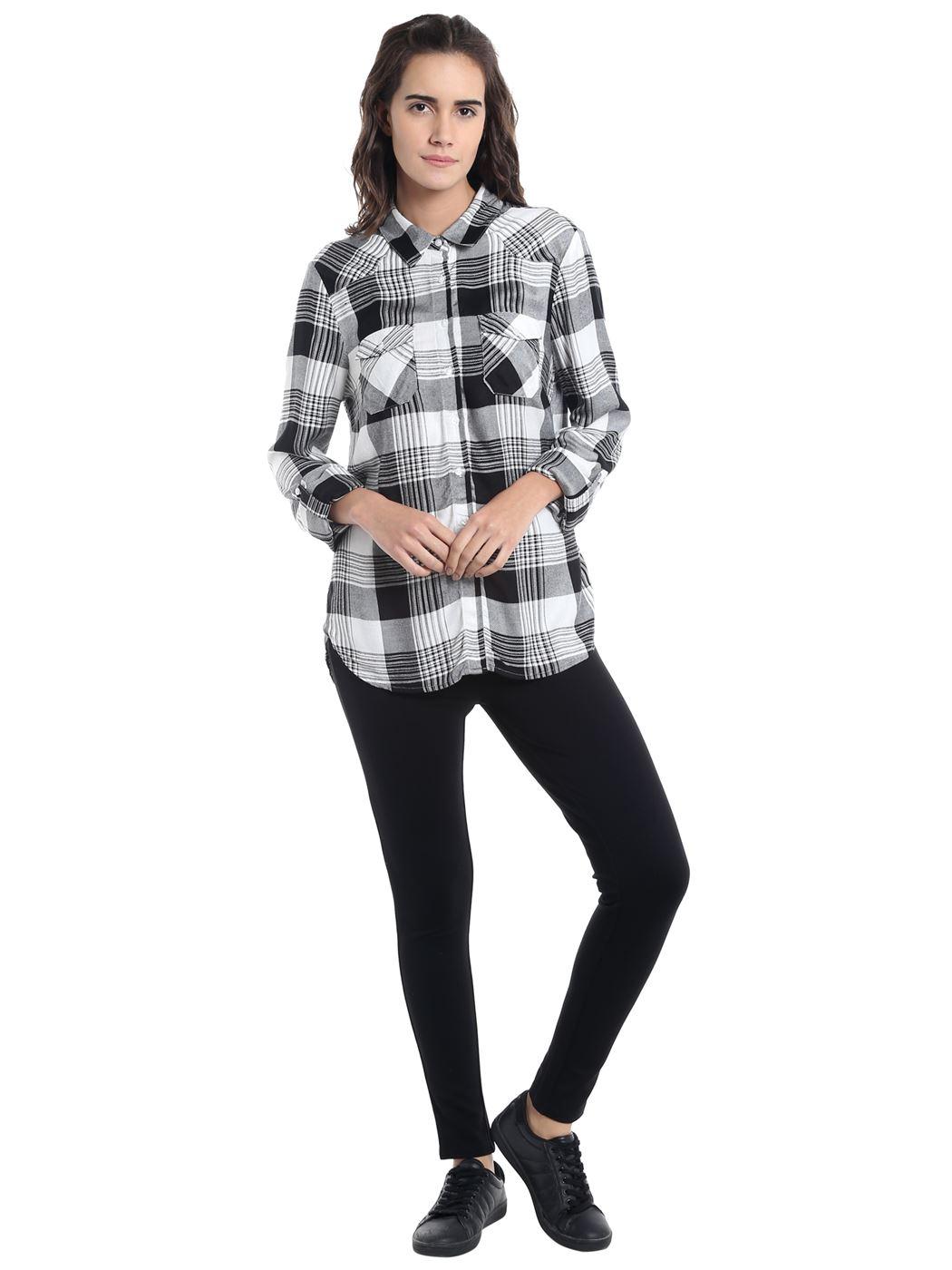 Vero Moda Women Casual Wear Checkered Shirt
