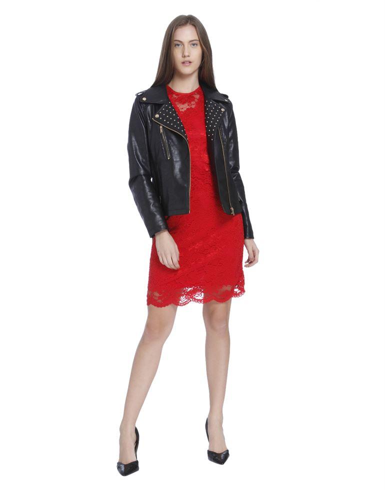 Vero Moda Women Casual Wear Lace Dress