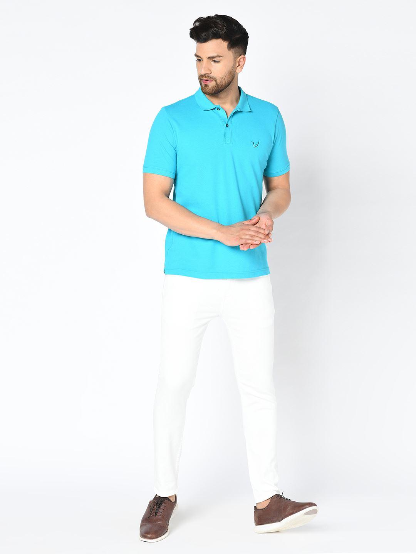Blackberry Men Casual Wear Blue T-Shirt