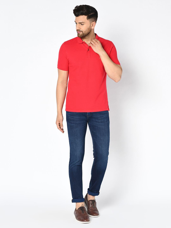 Blackberry Men Casual Wear Red T-Shirt