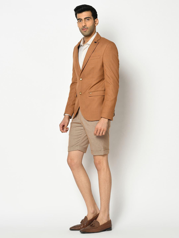 Blackberry Men Formal Wear Brown 4 Piece Suit