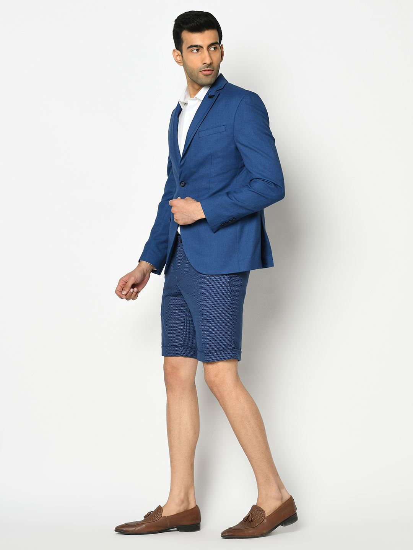 Blackberry Men Formal Wear Blue 4 Piece Suit