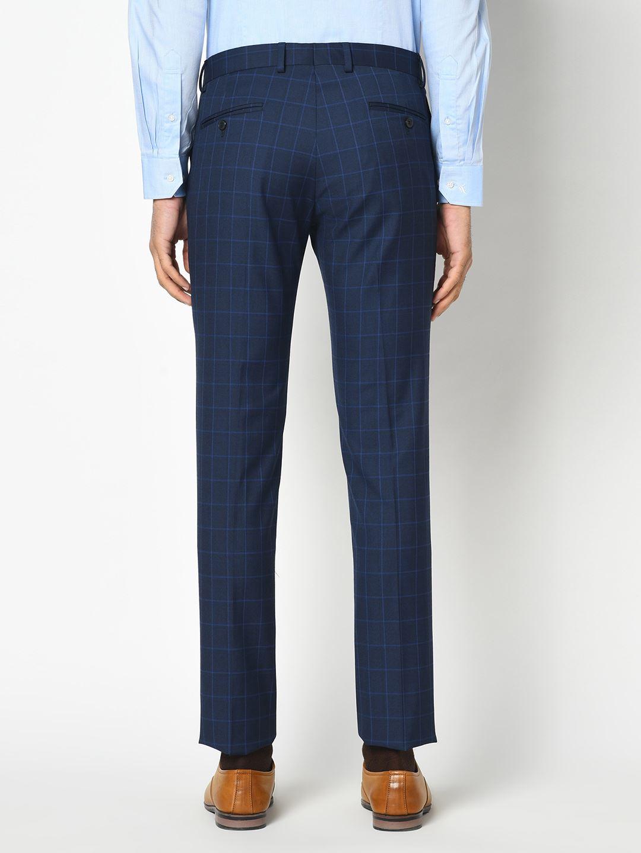 Blackberry Men Formal Wear Navy Blue Trousers