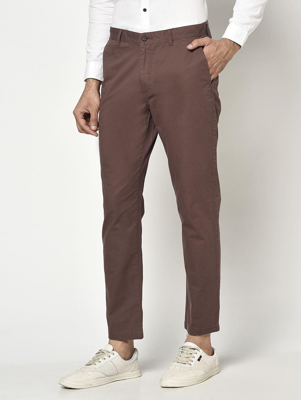 Blackberry Men Casual Wear Brown Trousers