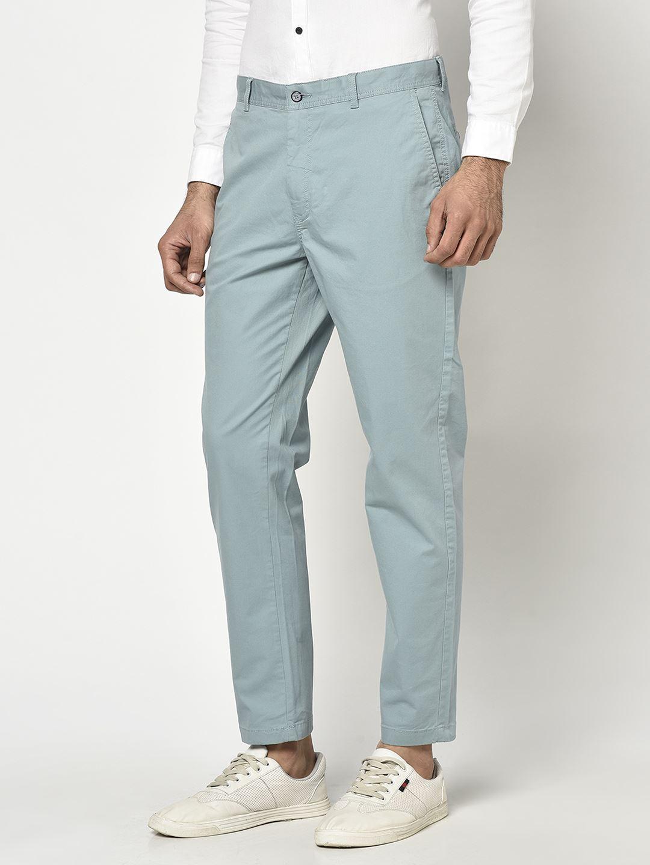 Blackberry Men Casual Wear Blue Trousers