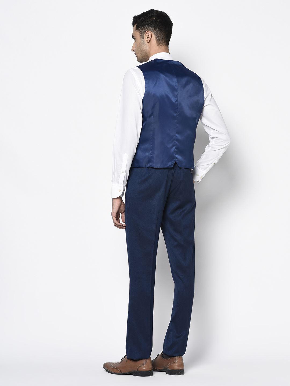 Blackberry Men Formal Wear Dark Blue 3 Piece Suit