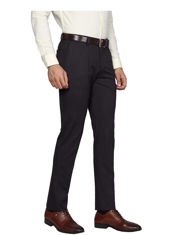 Blackberry Men Formal Wear Dark Blue Trousers