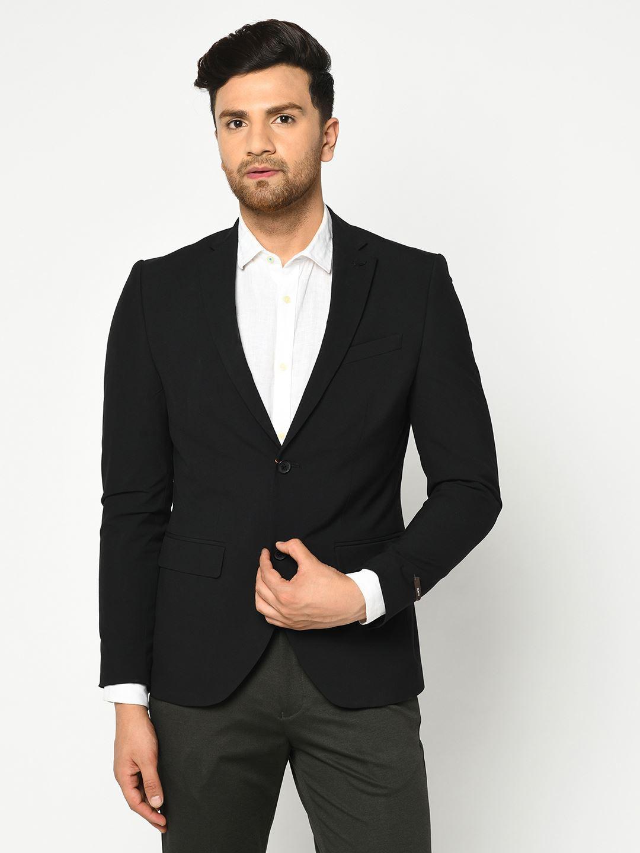 Blackberry Men Formal Wear Black 2 Piece Suit