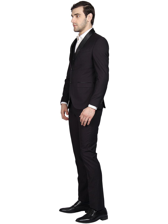 Blackberry Men Formal Wear Burgundy 3 Piece Suit