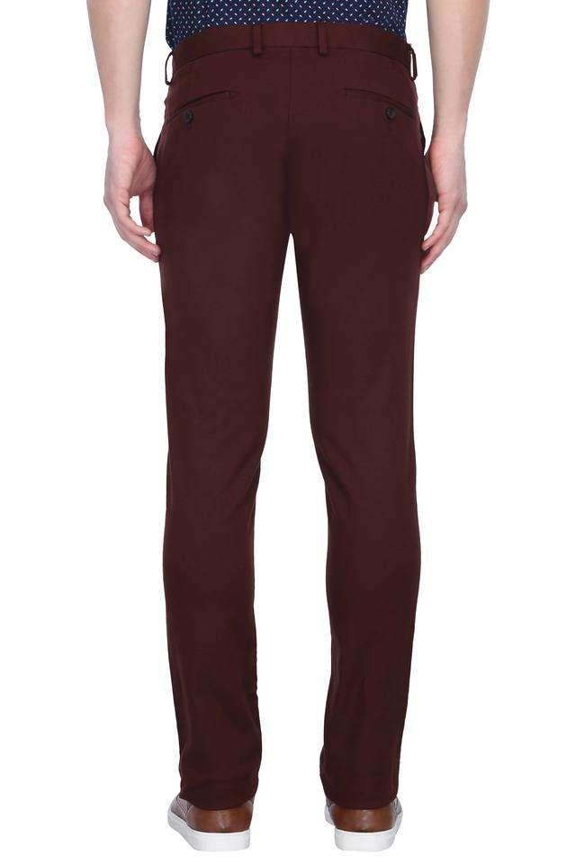 Blackberry Casual Men Casual Wear Solid Trousers