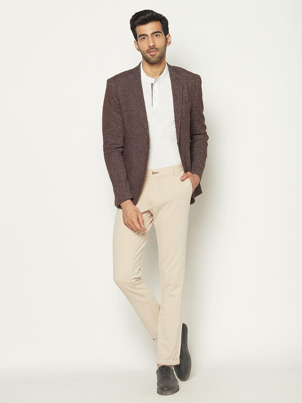 Blackberry Men Formal Wear Brown Blazer