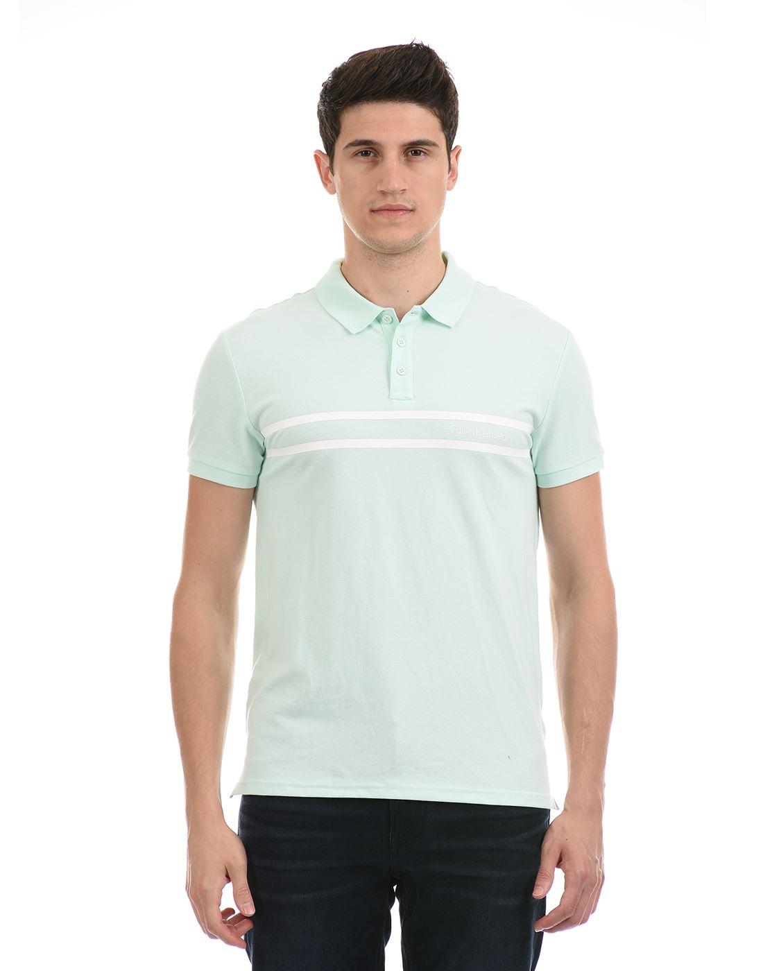 Calvin Klein  Men Casual Wear Sky Blue T-Shirt