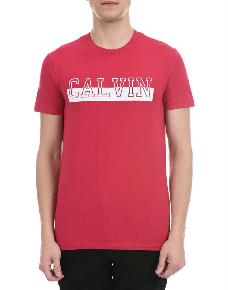 Calvin Klein Men Casual Wear Pink T-Shirt