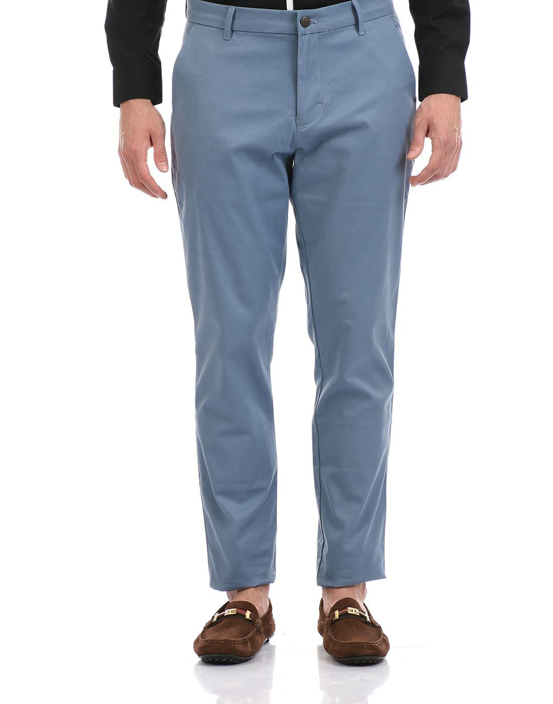 Calvin Klein  Men Casual Wear Sky Blue Trouser