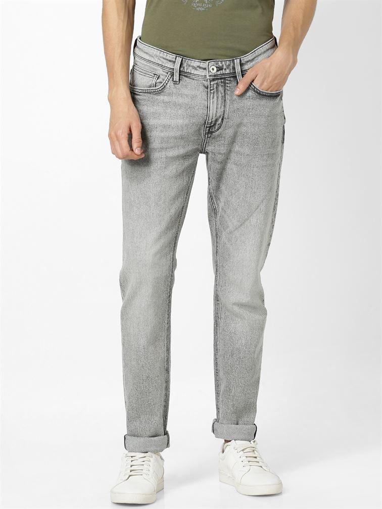 Celio Men Casual Wear Grey Jean