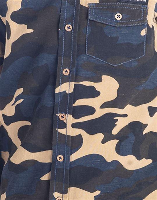 Cherry Crumble California Boys  Military Camouflage Shirt
