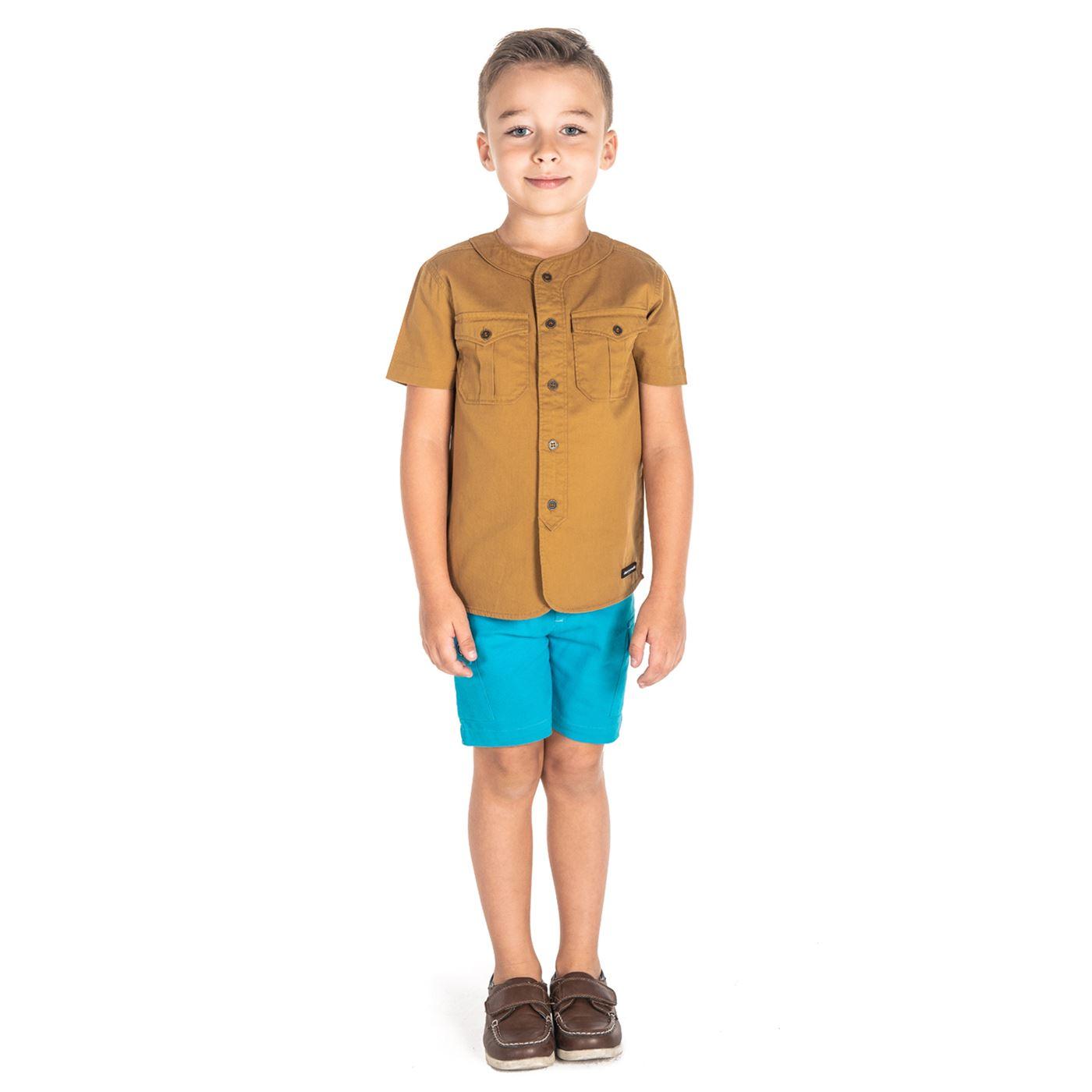 Cherry Crumble California Boys Brown  Solid Shirt