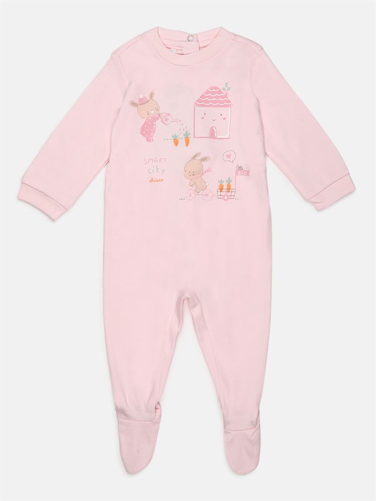 Chicco Unisex Pink Casual Wear Romper