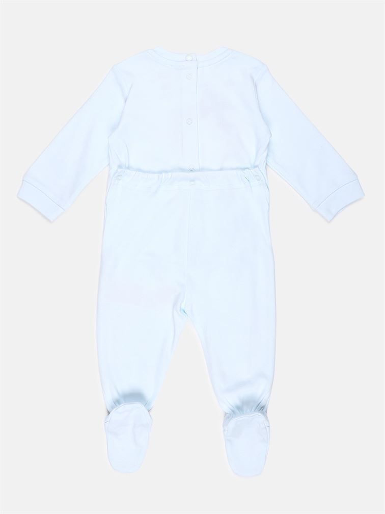 Chicco Unisex Blue Casual Wear Romper