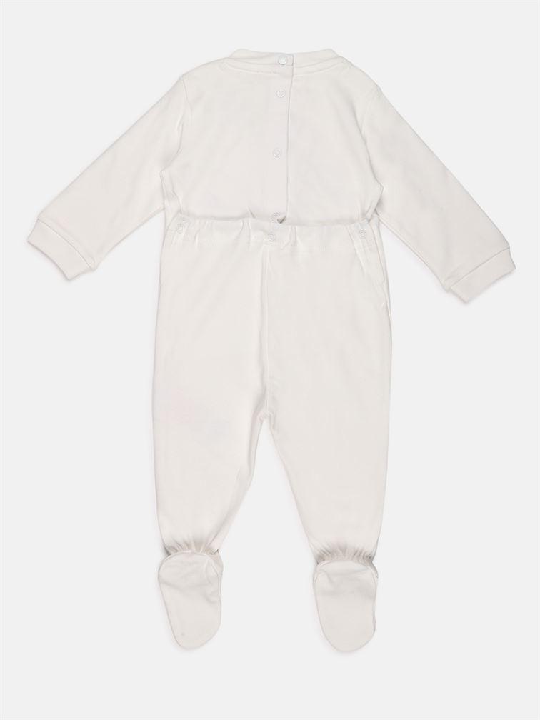 Chicco Unisex White Casual Wear Romper
