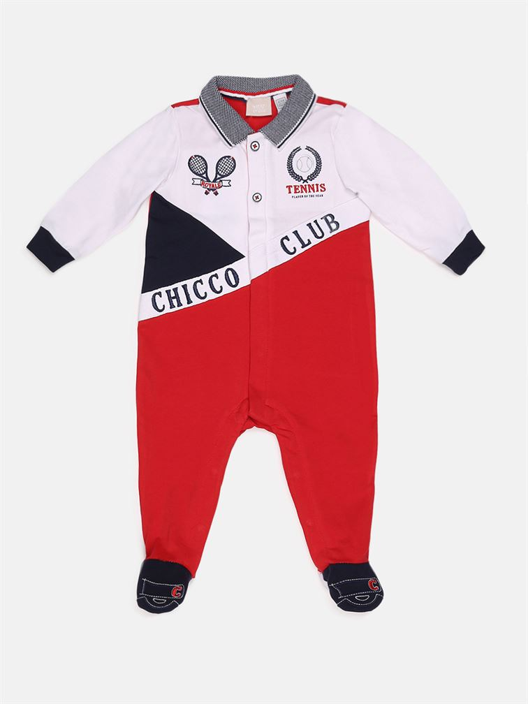 Chicco Boys Red Casual Wear Romper