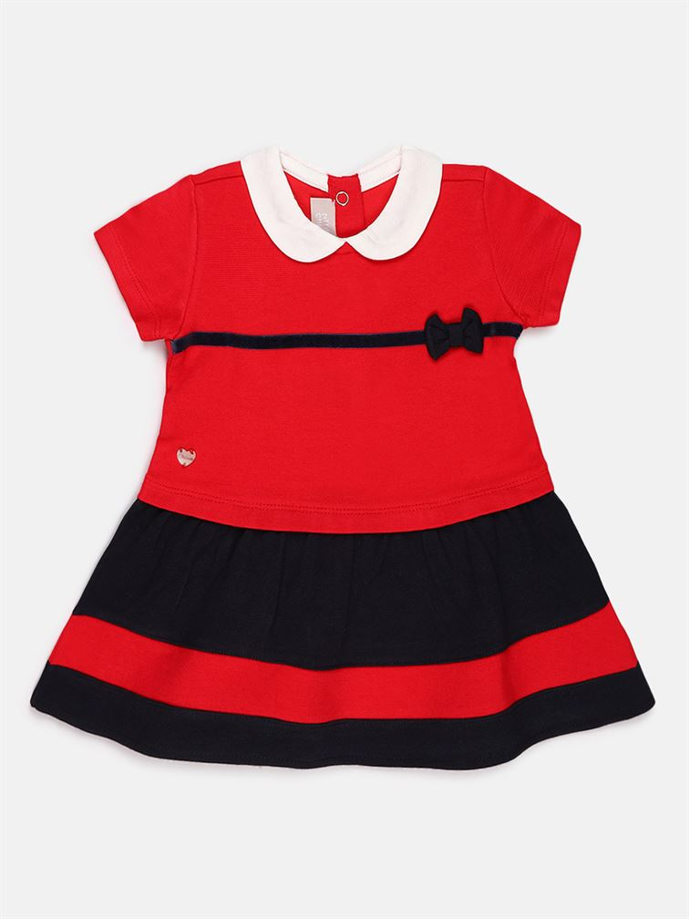 Chicco Girls Red Casual Wear Frock