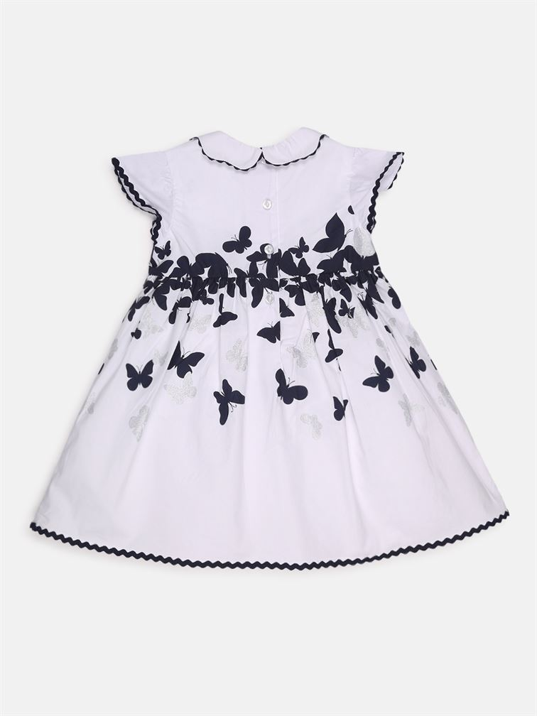 Chicco Girls White Casual Wear Frock