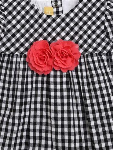 Chicco Girls Black Casual Wear Frock