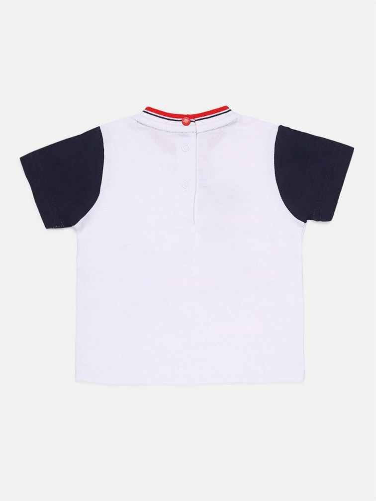 Chicco Boys White Casual Wear T-Shirt